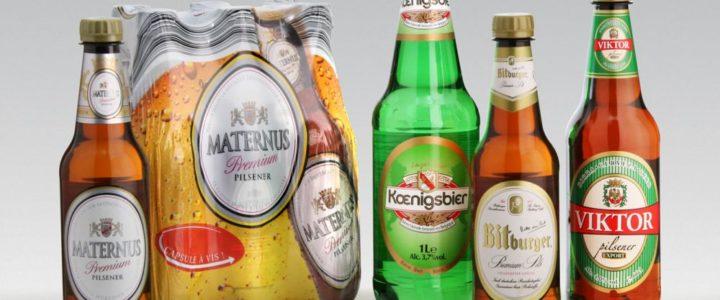 Garrafas PET na cerveja